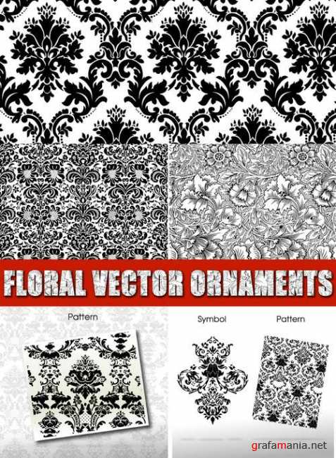 Floral vector ornaments