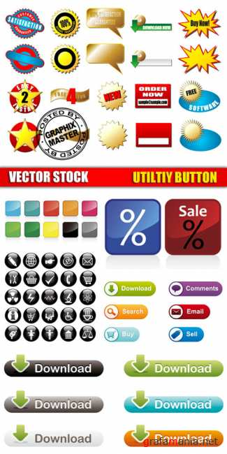 Vector Stock - Utilty Icon Button