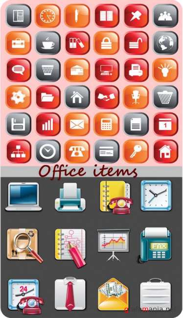 Business Icons Buttons set