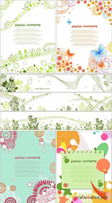 Spring vector backgrounds 2