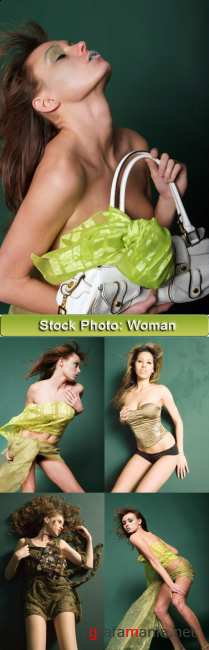 Stock foto: Green woman I
