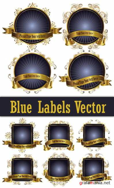 Blue Labels Vector