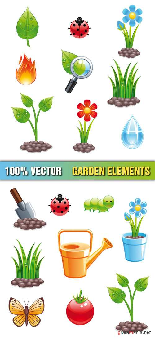 Stock Vector - Garden Elements