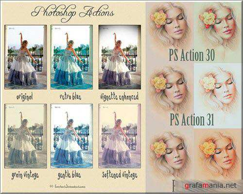 Retro Actions for Photoshop