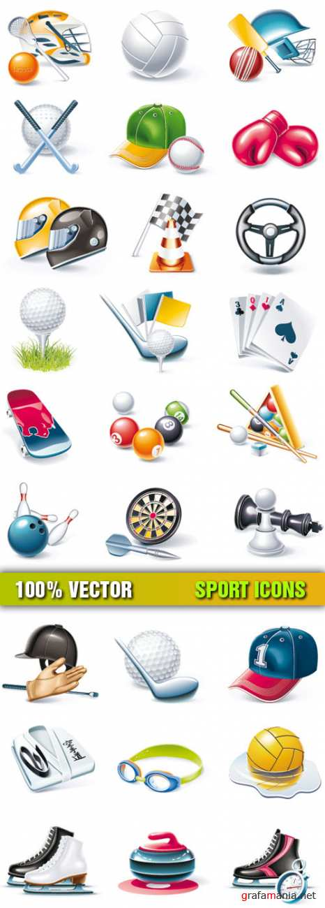 Stock Vector - Sport Icons