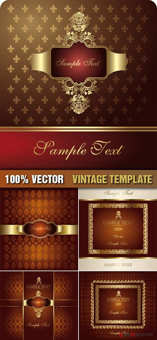 Stock Vector - Vintage Template