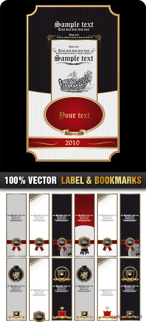 Stock Vector - Label & Bookmarks