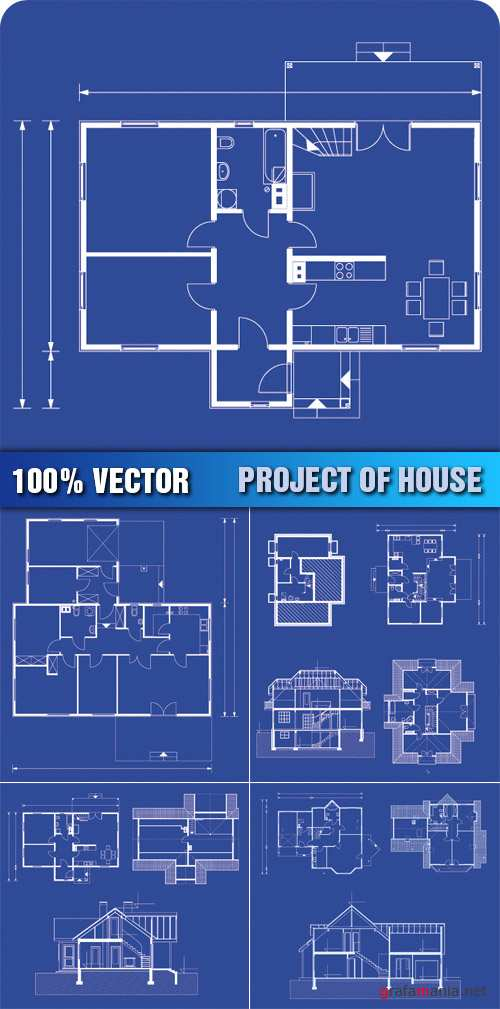 Stock Vector - Project of House