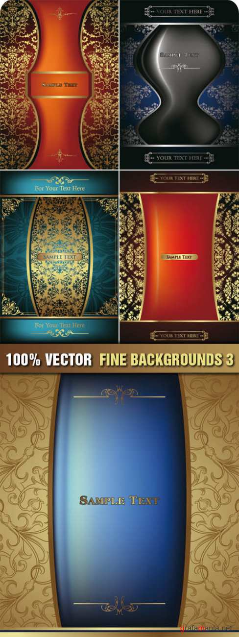 Stock Vector - Fine Backgrounds 3