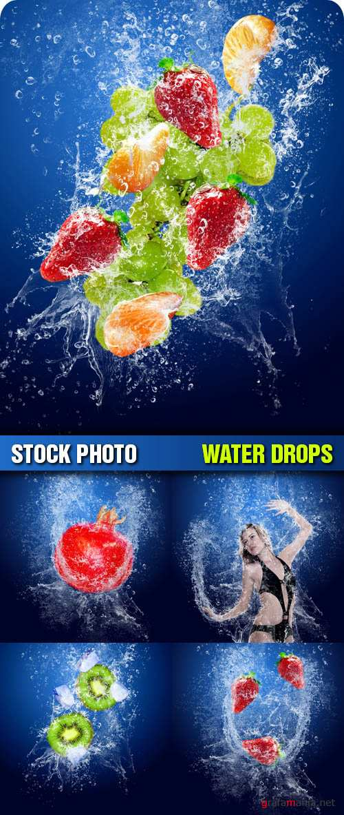 Stock Photo - Water Drops