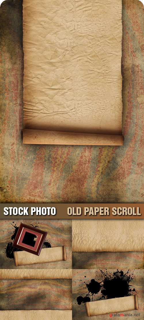 Stock Photo - Old Paper Scroll
