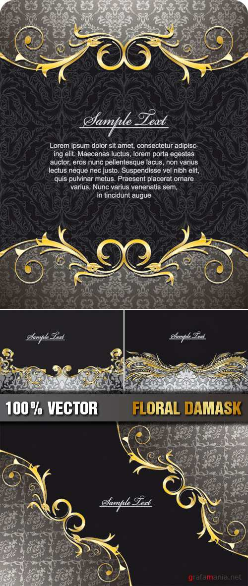 Stock Vector - Floral Damask