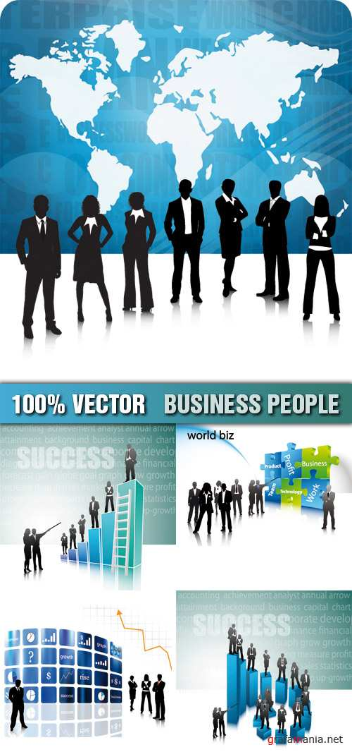 Stock Vector - Business People