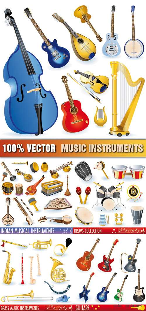 Stock Vector - Music Instruments