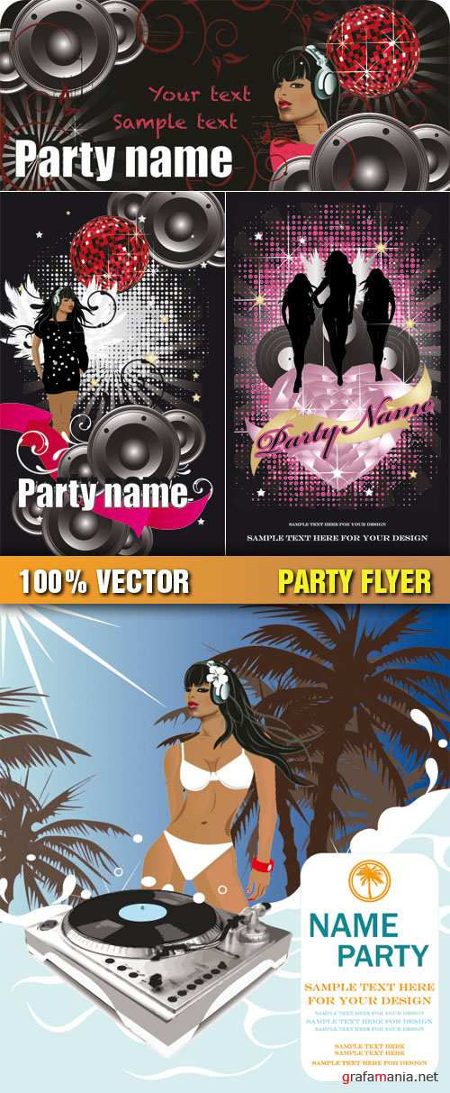 Stock Vector - Party Flyer