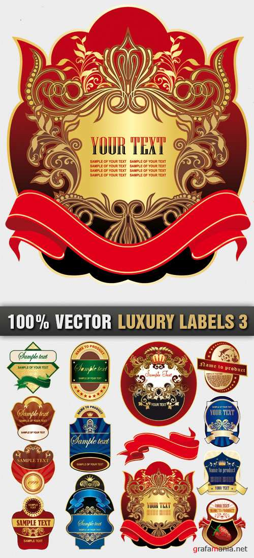 Stock Vector - Luxury Labels 3