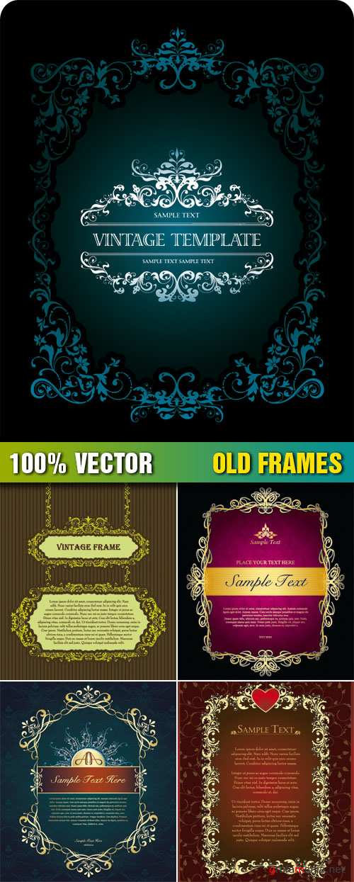 Stock Vector - Old Frames
