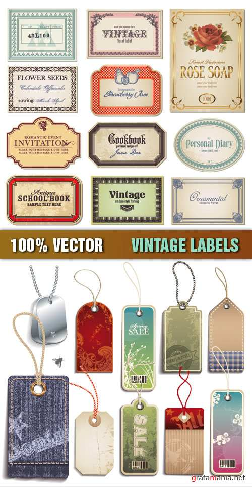 Stock Vector - Vintage Labels