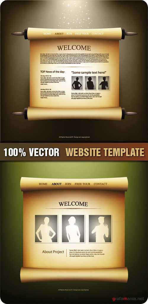 Stock Vector - Website Template