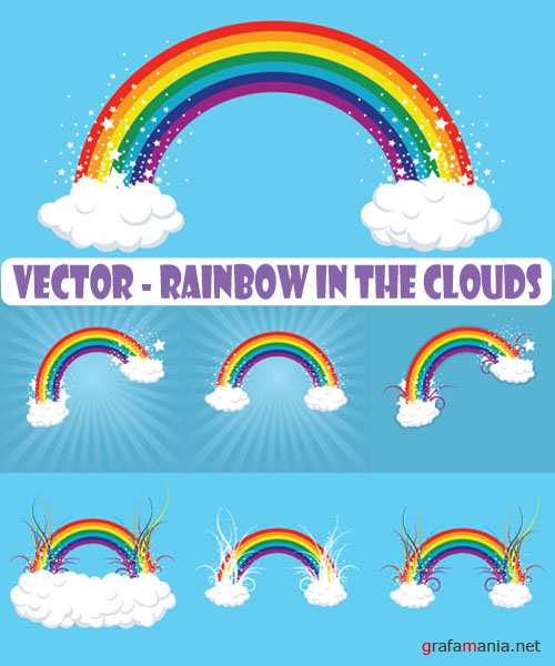 Vector - Rainbow in the Clouds