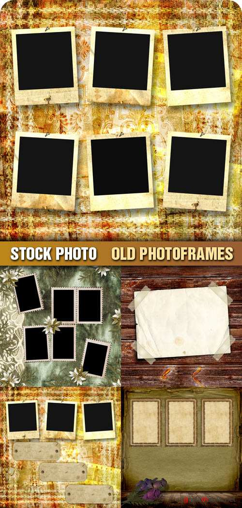 Stock Photo - Old Photoframes