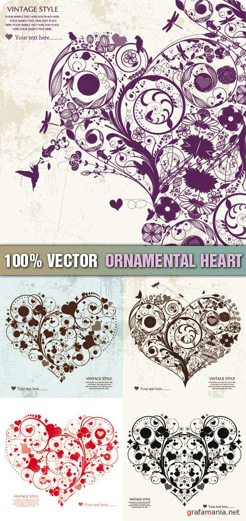 Stock Vector - Ornamental Heart