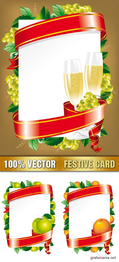 Stock Vector - Festive Card