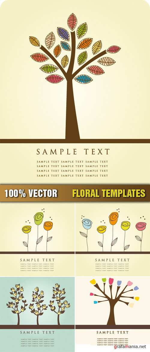 Stock Vector - Floral Templates