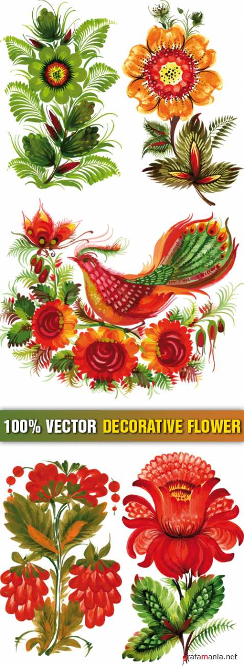 Stock Vector - Decorative Flower