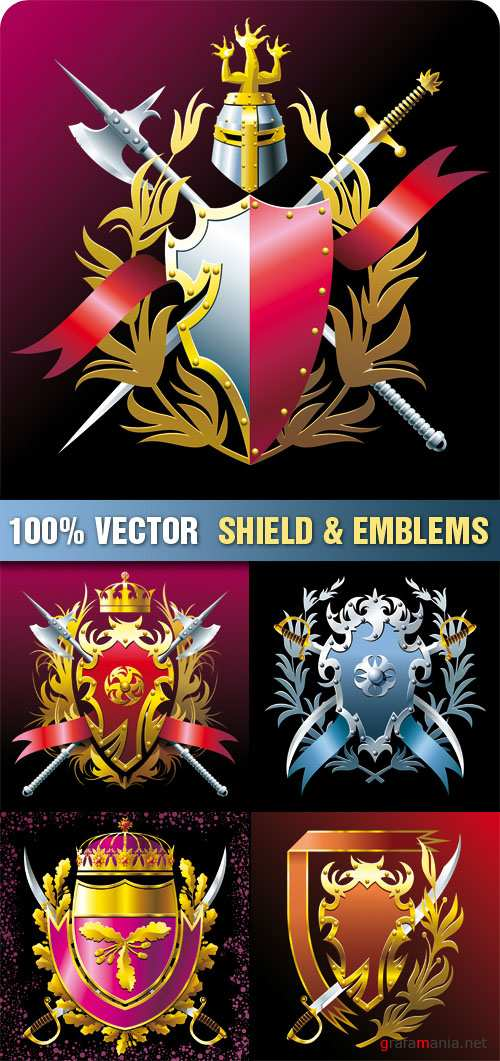 Stock Vector - Shield & Emblems