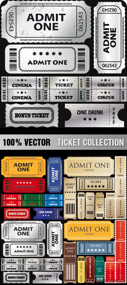 Stock Vector - Ticket Collection