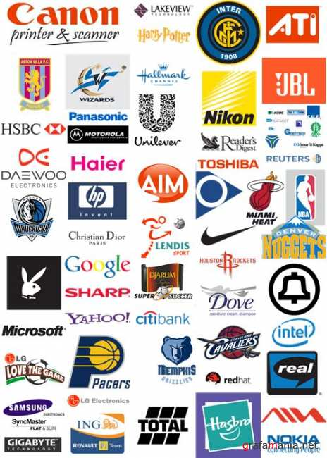 Full collection famous logo