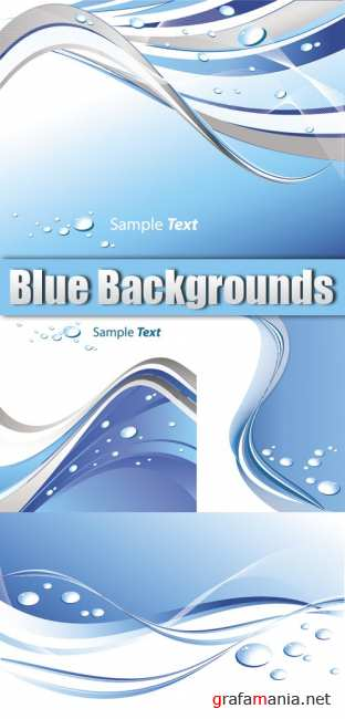 Blue Backgrounds with Drops