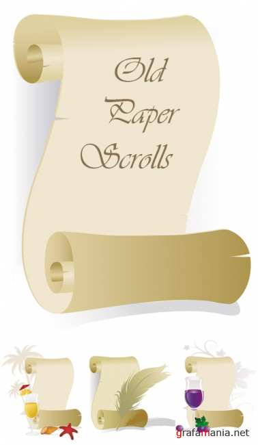 Old Paper Scrolls Vector