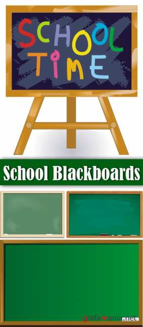 School Blackboards Vector