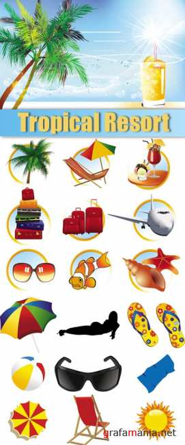 Tropical Resort Vector