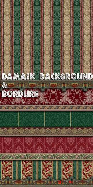 Damask background & bordure