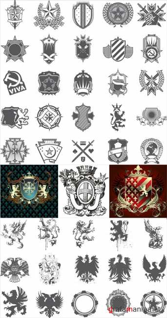 Heraldic vector elements 2