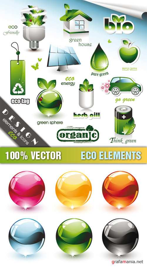 Stock Vector - Eco Elements