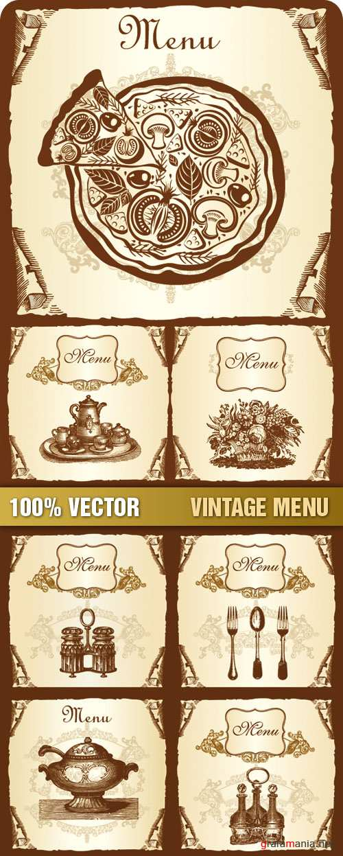 Stock Vector - Vintage Menu