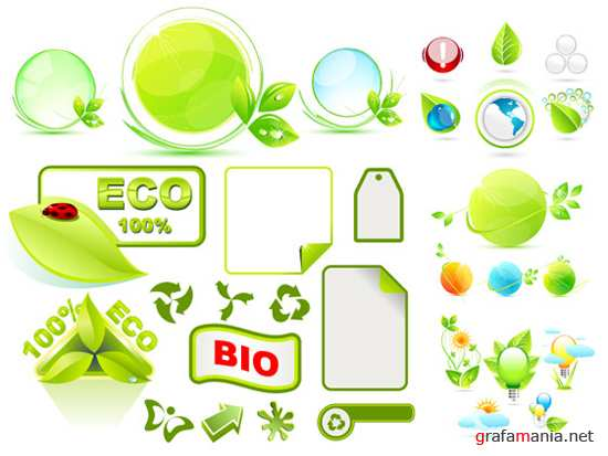 Green ecology vector