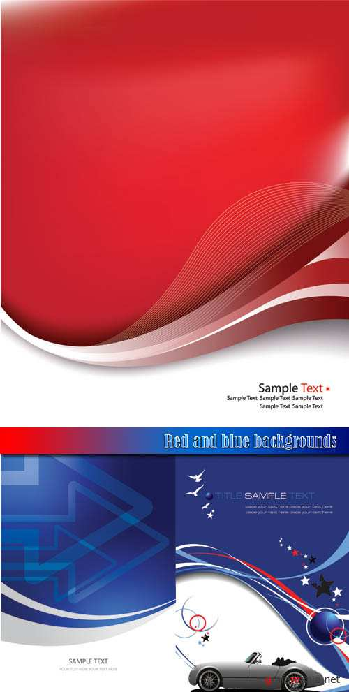 Red and blue backgrounds