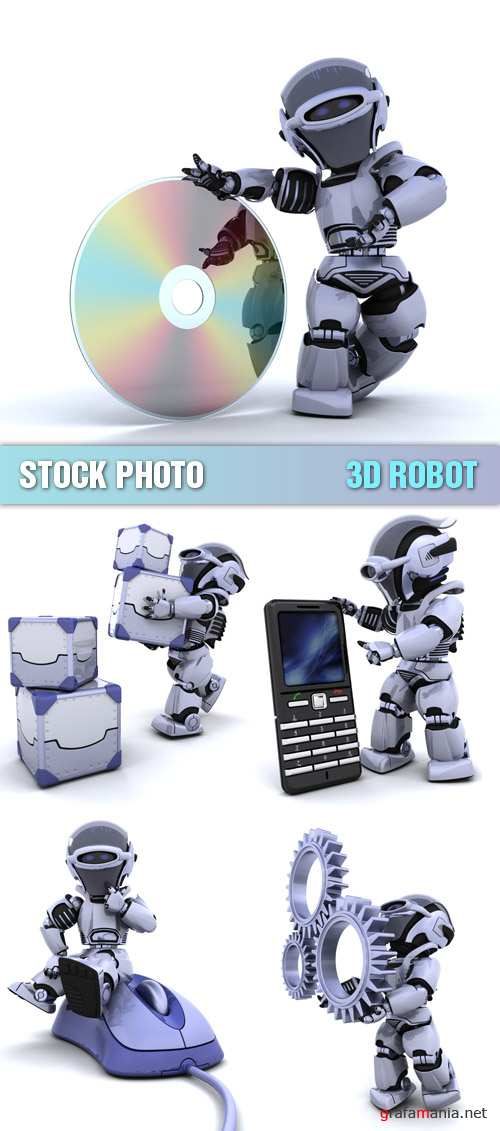 Stock Photo - 3D Robot