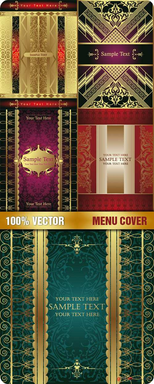 Stock Vector - Menu Cover