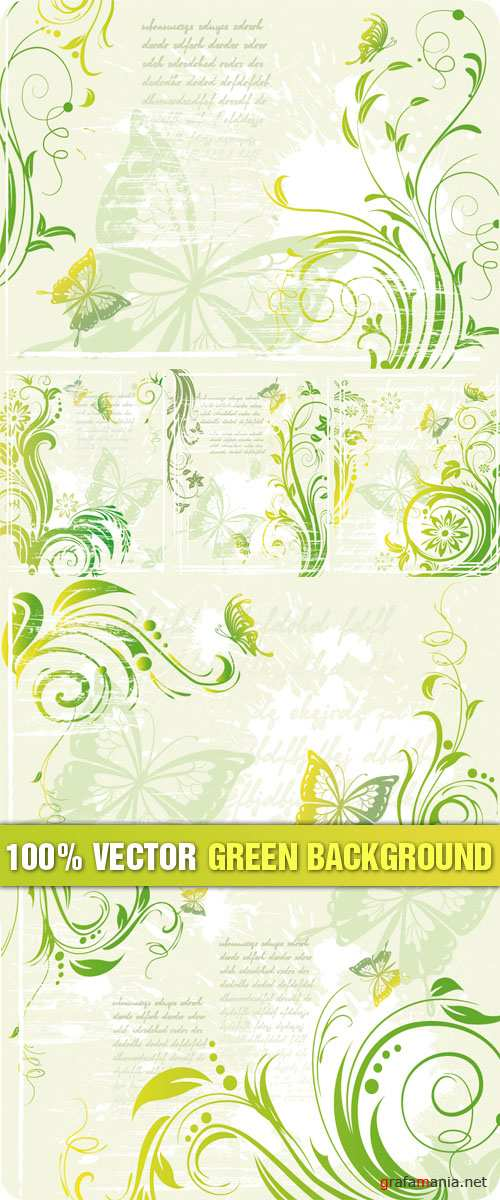 Stock Vector - Green Background