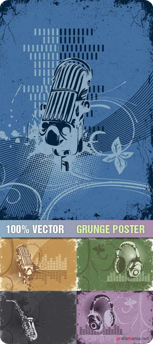 Stock Vector - Grunge Poster