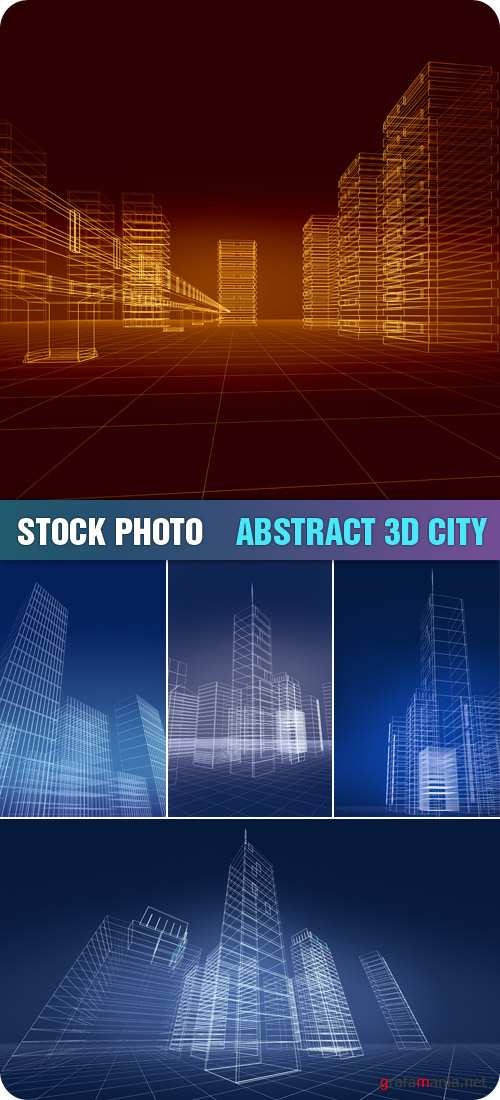 Stock Photo - Abstract 3D City