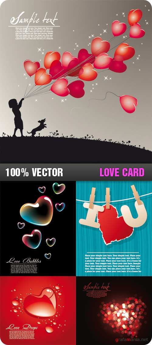 Stock Vector - Love Card