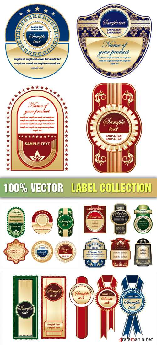 Stock Vector - Label Collection