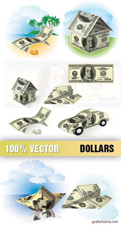 Stock Vector - Dollars